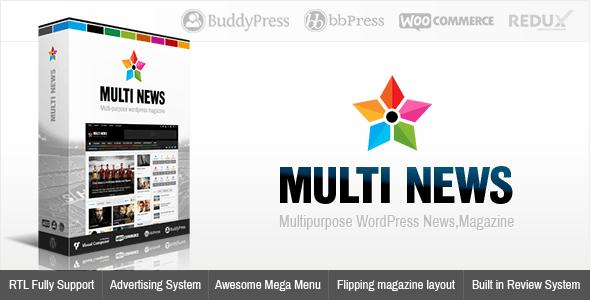 Multinews Magazine WordPress Theme