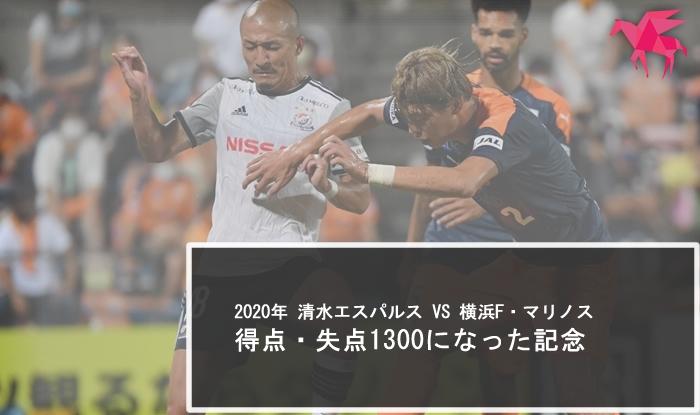 2020年 清水エスパルス VS 横浜F・マリノス 得点・失点1300になった記念